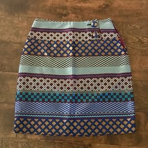 Maeve High-Waisted Patterned Skirt